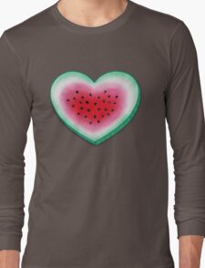 Summer Love - Watermelon Heart Long Sleeve T-Shirt