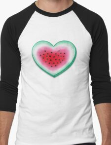 Summer Love - Watermelon Heart Men's Baseball ¾ T-Shirt