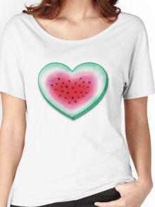 Summer Love - Watermelon Heart Women's Relaxed Fit T-Shirt