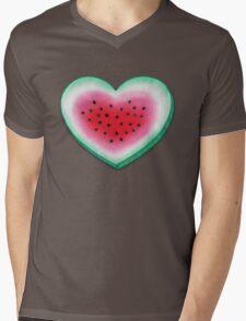 Summer Love - Watermelon Heart Mens V-Neck T-Shirt