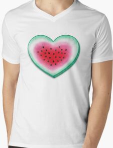 Summer Love - Watermelon Heart Mens V-Neck T-Shirt