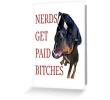 Nerds get paid Greeting Card