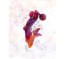 Young woman basketball player 01 in watercolor Photographic Print