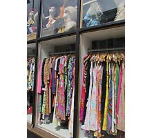 Vintage dresses on London's famous Portobello Road. Photographic Print