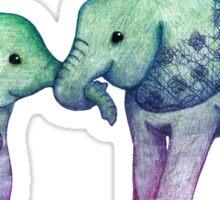 Baby Elephant Love Sticker