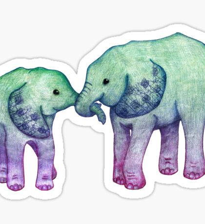 Baby Elephant Love Sticker