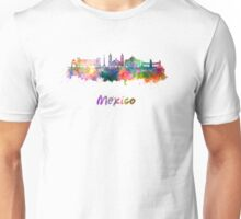 Mexico City skyline in watercolor Unisex T-Shirt