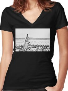 Balancing Act Women's Fitted V-Neck T-Shirt