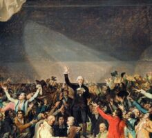 Tennis Court Oath -  Jacques Louis David - French Revolution - 1794 Sticker