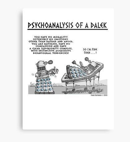 PSYCHOANALYSIS OF A DALEK Metal Print