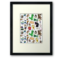 Toy Story collage Framed Print
