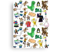 Toy Story collage Canvas Print