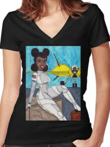 Flightdeck Vixen Women's Fitted V-Neck T-Shirt