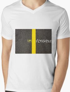 Concept image of word IMPOSSIBLE Mens V-Neck T-Shirt