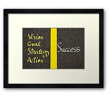 Concept image of SUCCESS Framed Print