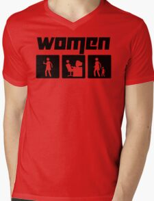 Women 2 Mens V-Neck T-Shirt