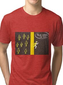 Think Outside The Box concept image Tri-blend T-Shirt