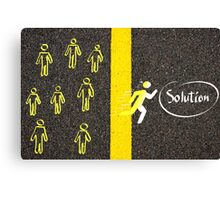 Finding the Solution concept image Canvas Print