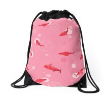 Sakura Shark Drawstring Bag