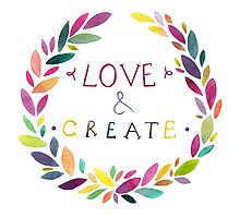 Love and create Photographic Print