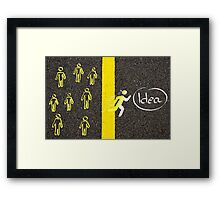 Having the Great Idea concept image Framed Print