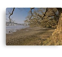 Low Spring Tide At Mylor Creek Canvas Print