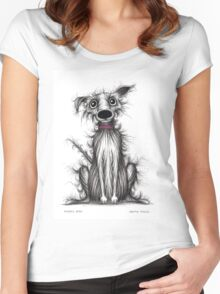 Fuzzy dog Women's Fitted Scoop T-Shirt