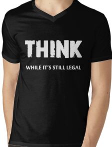 Think Mens V-Neck T-Shirt
