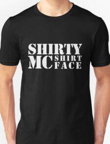 Shirty McShirtface - White Unisex T-Shirt