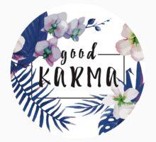 Good Karma Mantra Tropical Flowers Jungle Kids Tee