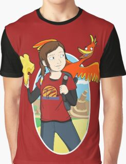 Ellie & Kazooie going on an Adventure. Graphic T-Shirt