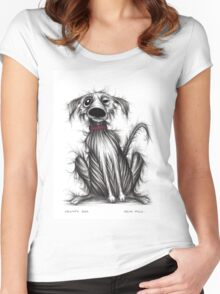 Grumpy dog Women's Fitted Scoop T-Shirt