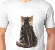 Striped cute fluffy kitten Unisex T-Shirt