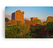 Ireland. County Clare. Knappogue Castle. Sunset. Canvas Print