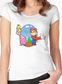 Princess Peach is in da' castle! Women's Fitted Scoop T-Shirt