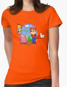 Princess Peach is in da' castle! Womens Fitted T-Shirt