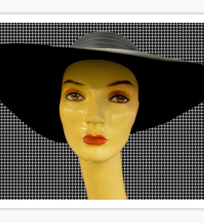 black hat Sticker