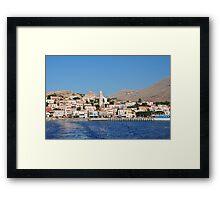 Emborio village, Halki Framed Print