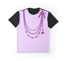 Hanging bow beaded necklace (decoration) Graphic T-Shirt