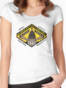 Battleship Dalek 1963 Women's Fitted Scoop T-Shirt