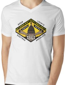 Battleship Dalek 1963 Mens V-Neck T-Shirt