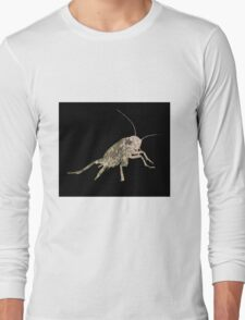 Insect Texture Outline Black 5 Long Sleeve T-Shirt