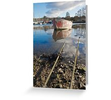 Off The Rails In Mylor Creek Greeting Card