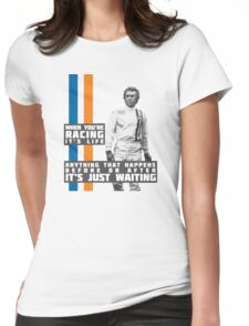 Steve McQueen Le Mans  Womens Fitted T-Shirt