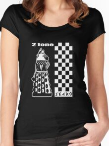 Two Tone Dalek Women's Fitted Scoop T-Shirt