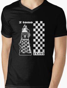 Two Tone Dalek Mens V-Neck T-Shirt