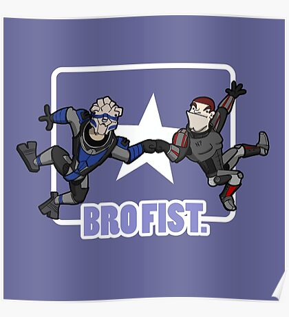 Bro's 4 life - Mass Effect Poster