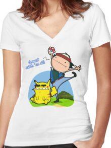 Gunna' Catch 'Em All! Women's Fitted V-Neck T-Shirt