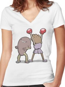 Number 106 and 107 Women's Fitted V-Neck T-Shirt