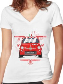 FIAT ABARTH 500 Women's Fitted V-Neck T-Shirt